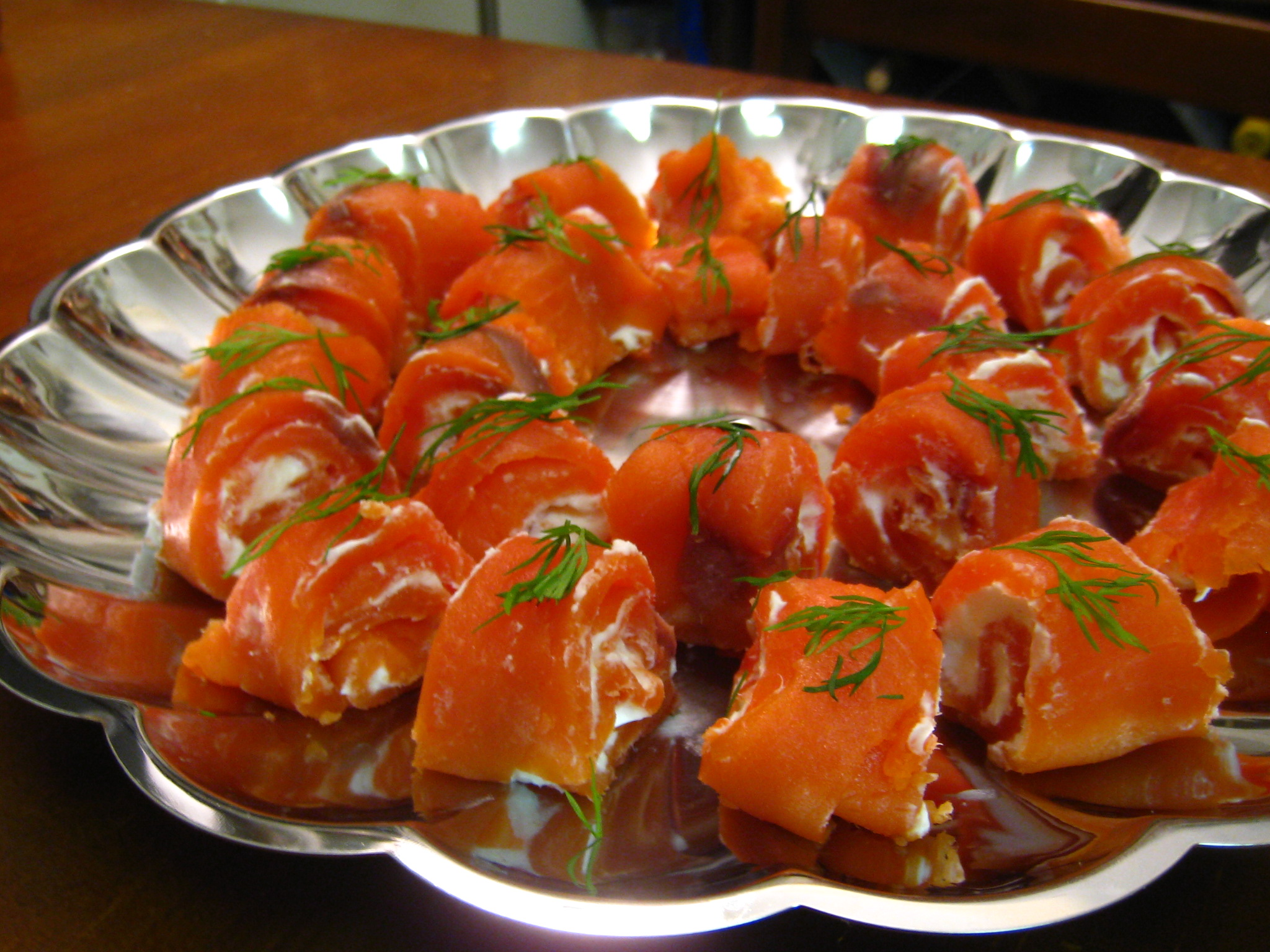Smoked Salmon Rolls – Hooray for the Holidays!