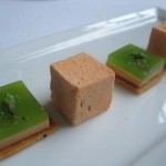 Foie Gras Squares with Carrot Marshmellows 150x150