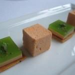 Foie Gras Squares with Carrot Marshmellows 150x150