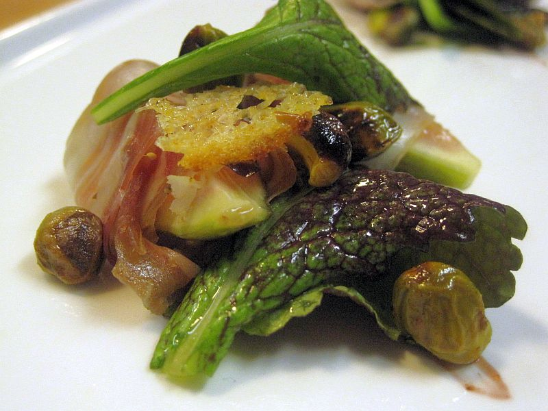 Prosciutto wrapped fig