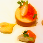 Monfish Liver Torchon with Persimmon Benu 150x150