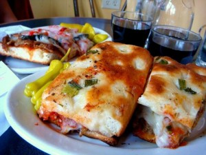 Hot focaccia sandwich 300x225